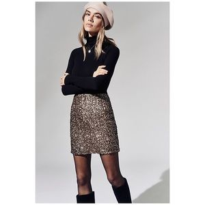 Free People Sequin Mini Skirt
